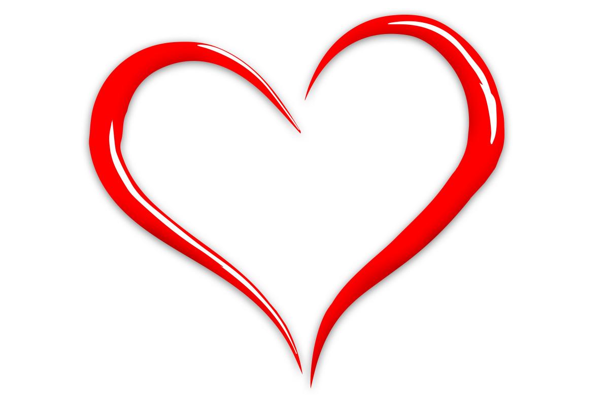 Картинка с сердечками на белом фоне