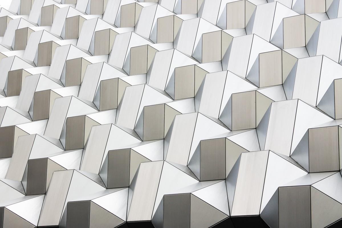 arquitectura blanco piso pared techo patrón línea geométrico azulejo circulo futurista art diseño simetría mosaico forma piso Iluminación natural