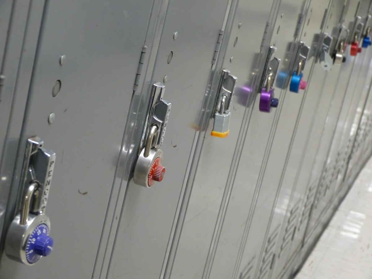 rangée intérieur nombre plafond le magasin salle étudiant boîte éclairage Sécurité éducation espace de rangement cadenas produit cabinet couloir sécurité couloir intimité école fermé protection école secondaire protéger ouvrir garantir athlétisme compartiment sûr fermer Casiers combinaison affaires câblage électrique vestiaire