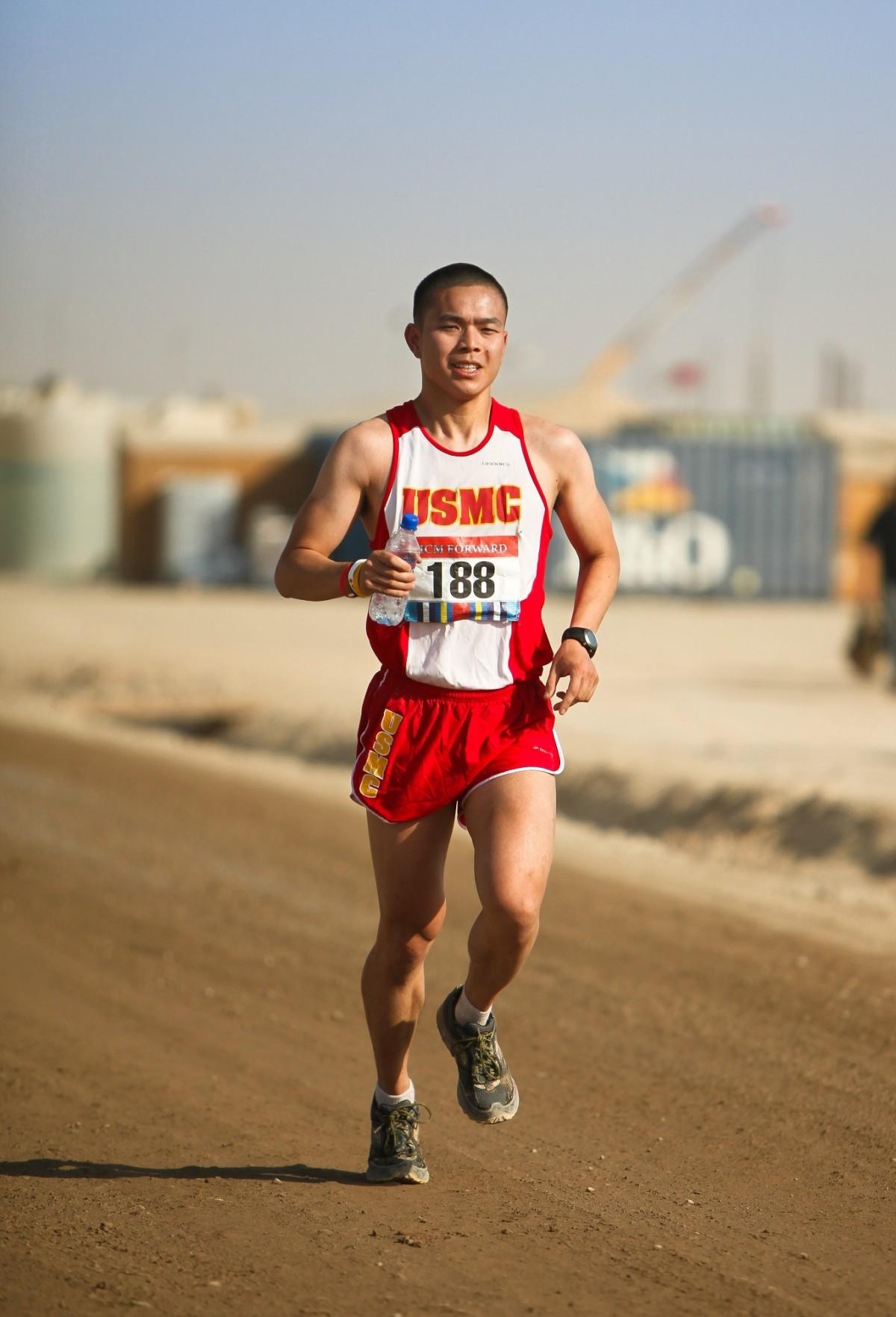 Sport Man Running Runner Sprinting Training Stock Photo ... |Marathon Man Running