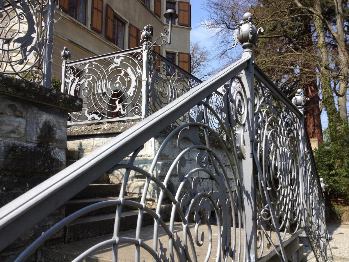 Images gratuites hiver v lo balustrade m tal ch teau - Sculpture exterieure metal ...
