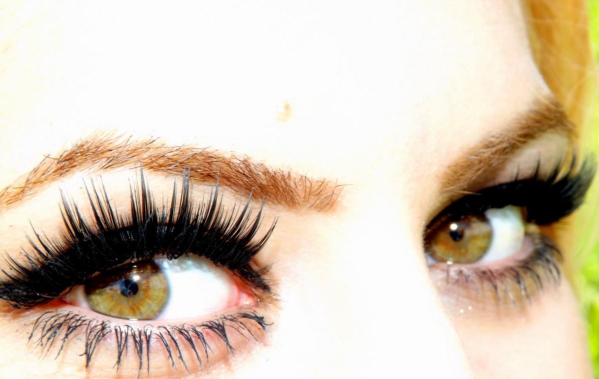 Цветные ресницы для наращивания для карих глаз