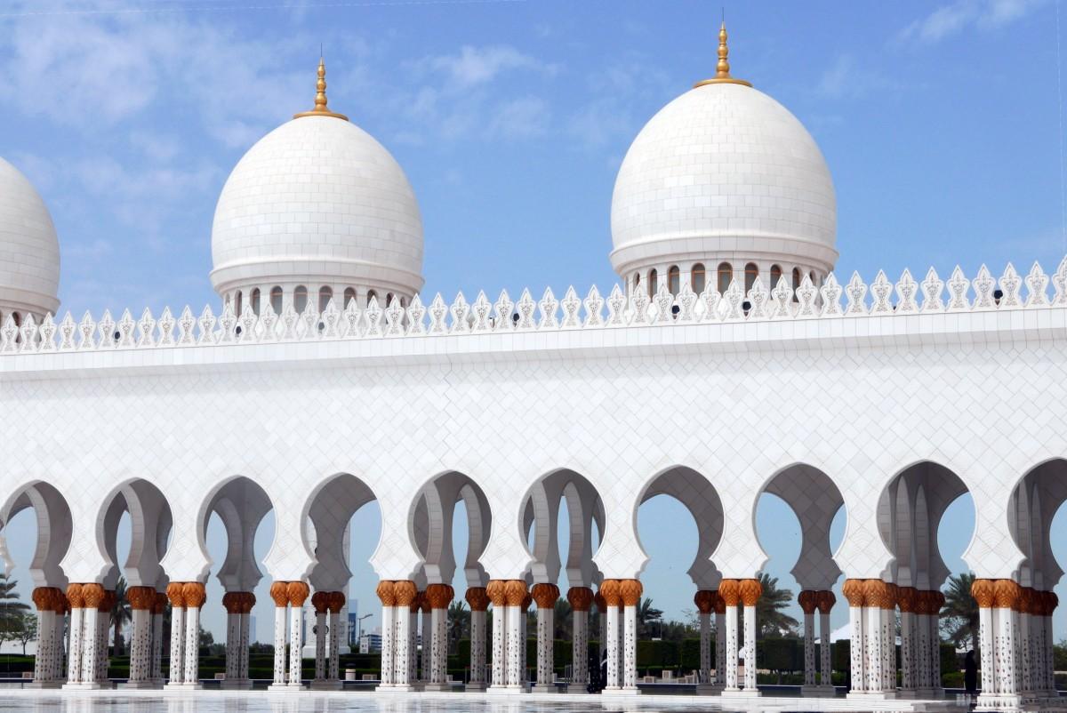 Exterior: Free Images : Building, Place Of Worship, Yard, Abu Dhabi