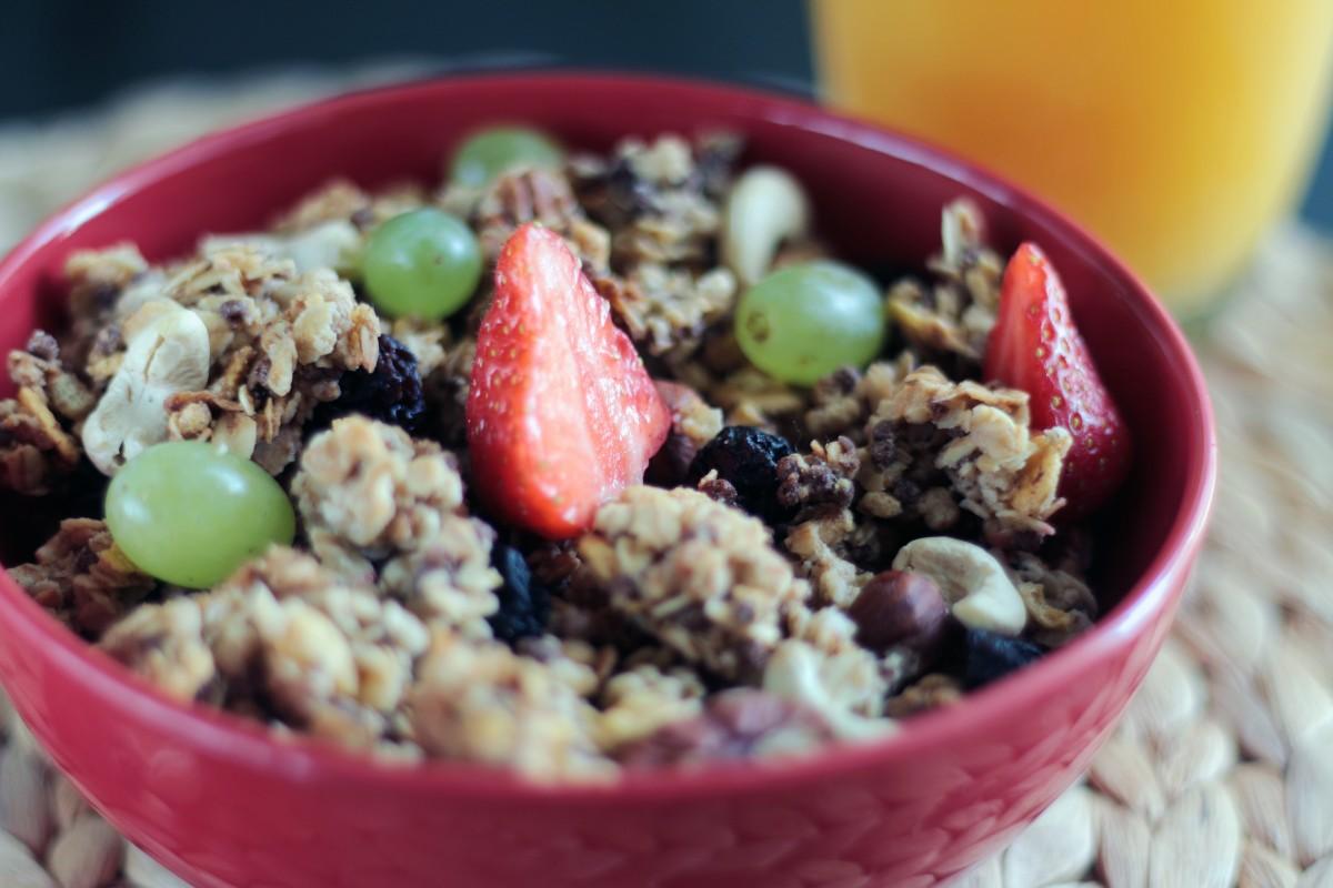 Muesli breakfast bowl food healthy meal cereal nutrition 1087273