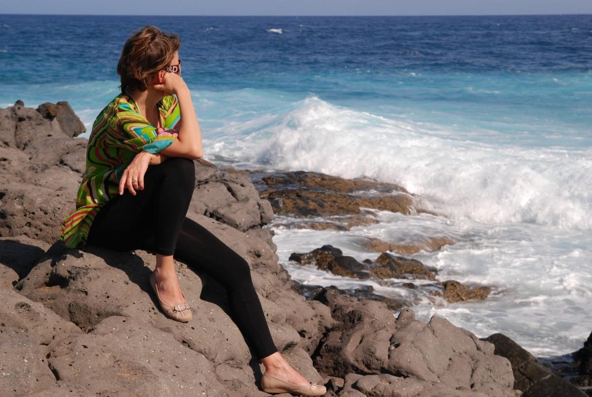 Берегу океана зрелых фото женщин на