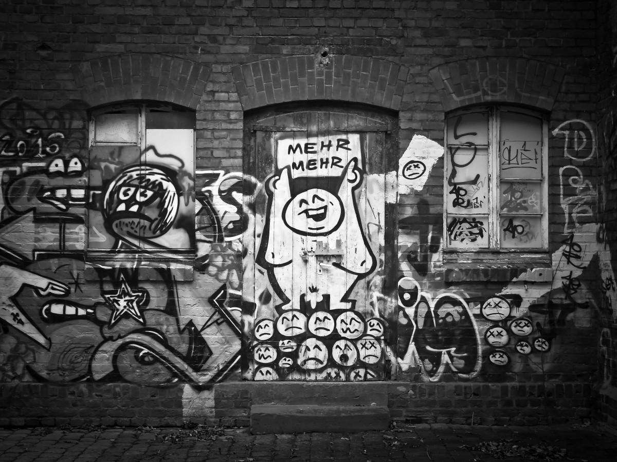фотографии граффити черно белые всем известно