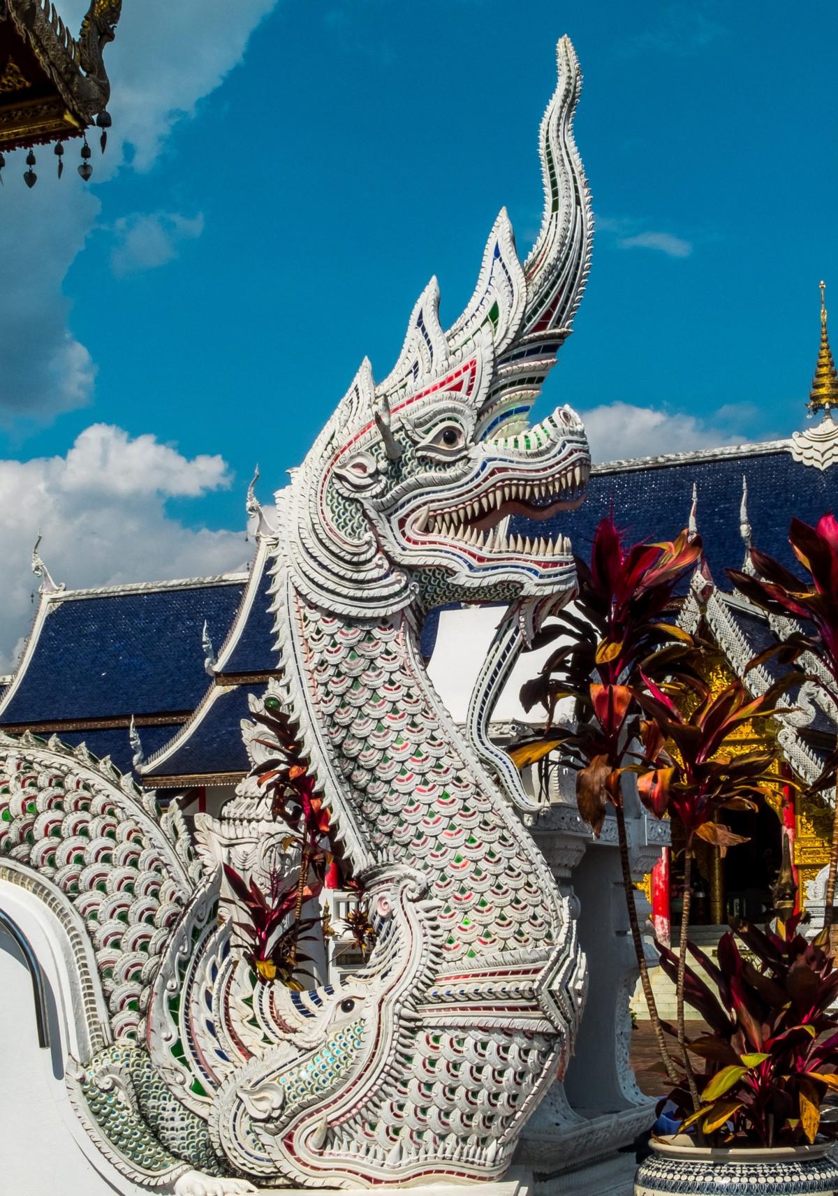 статуя Скульптура Изобразительное искусство Иллюстрация храм Дракон Мифология Драконы Храмовый комплекс Индуистский храм вымышленный персонаж Север Таиланда