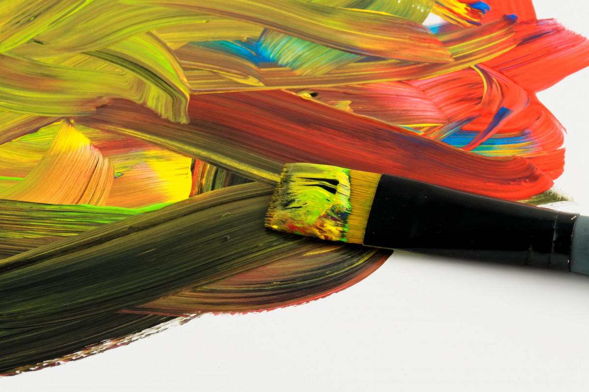 Aile Brosse Couleur Peindre Coloré Jaune Goutte La Peinture Art Peintre  Illustration Peinture à Lu0027