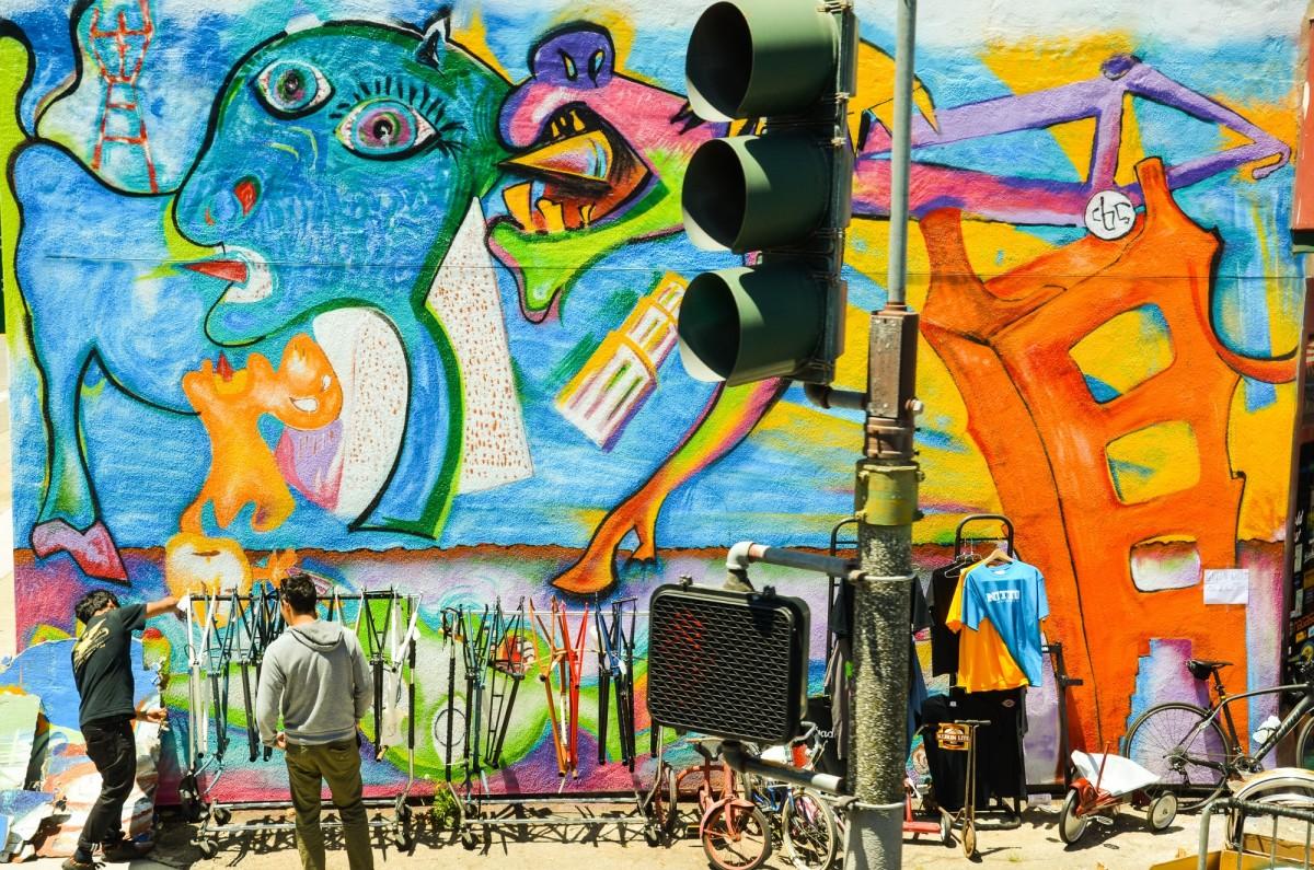 Graffiti wall usa - Bike Wall San Francisco Usa America Graffiti