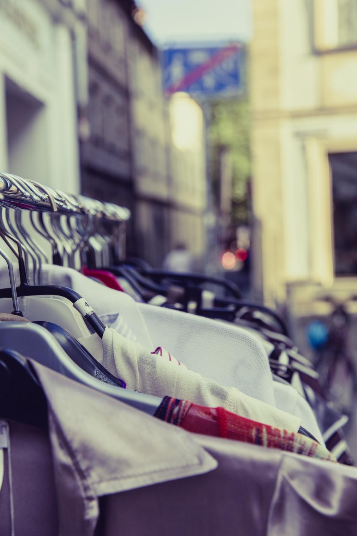 free images   blur  people  hanger  shop  spring  vehicle  color  market  blue  rack  shopping