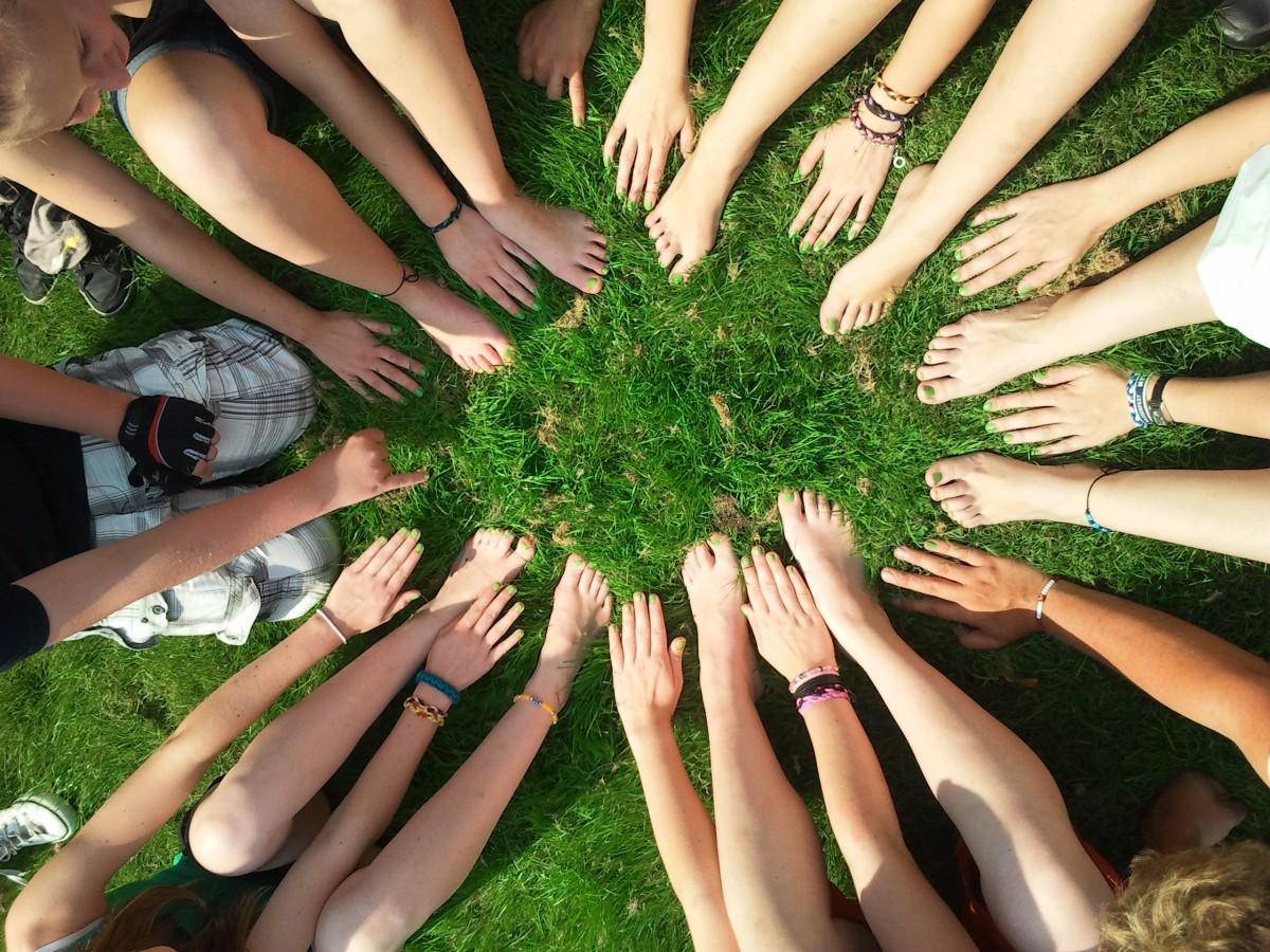 mano árbol césped grupo gente planta hoja flor Pies patrón dedo verde comunidad humano juntos uña manicura motivación de cerca equipo diseño manos belleza trabajo en equipo colectivo grupo de personas Actitud para la vida cooperación cooperar trabajo en equipo