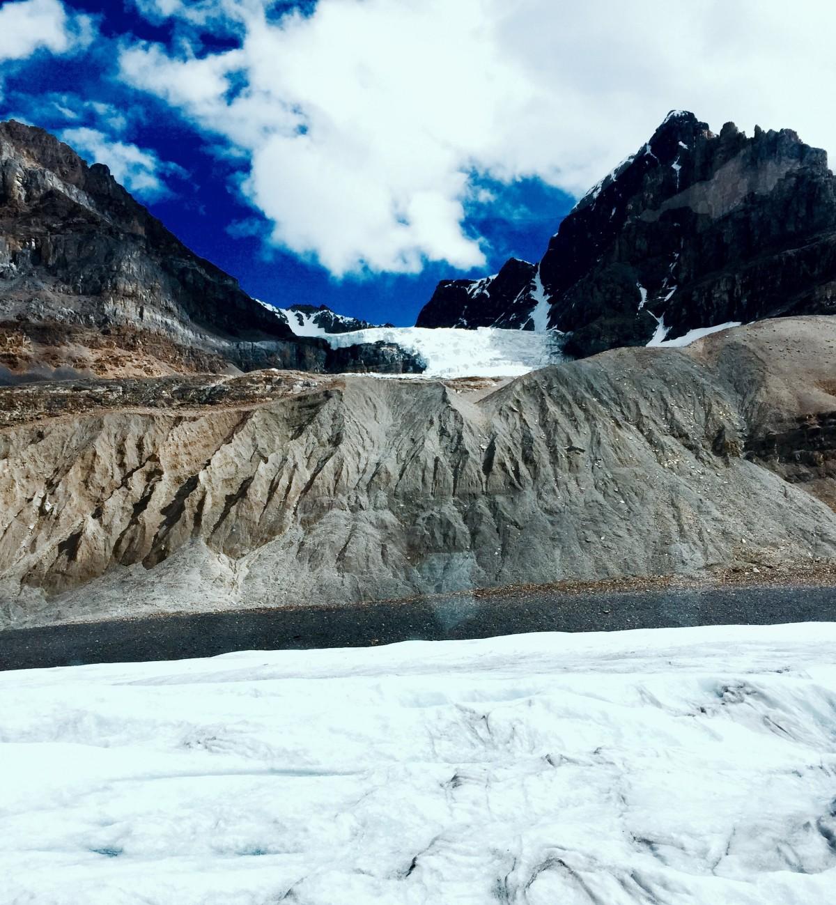 geology desert and glacier landscape contrast