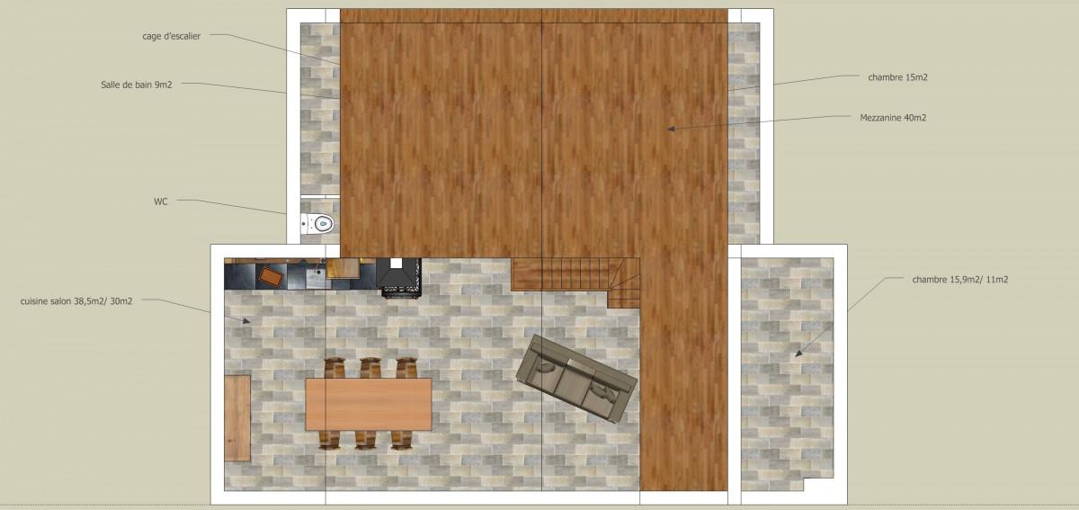 for Wood mezzanine construction plan