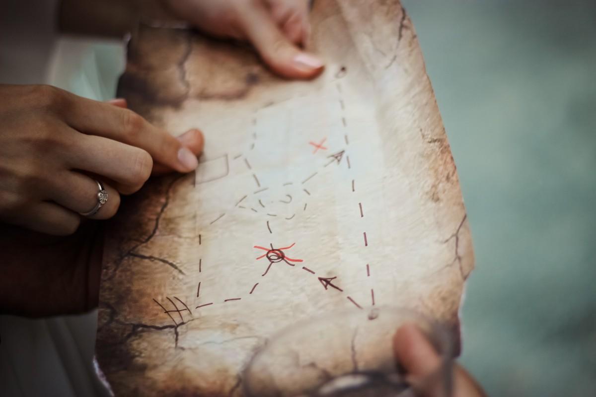 hand person ring arm map close up human body treasure hunt head skin organ emotion sense