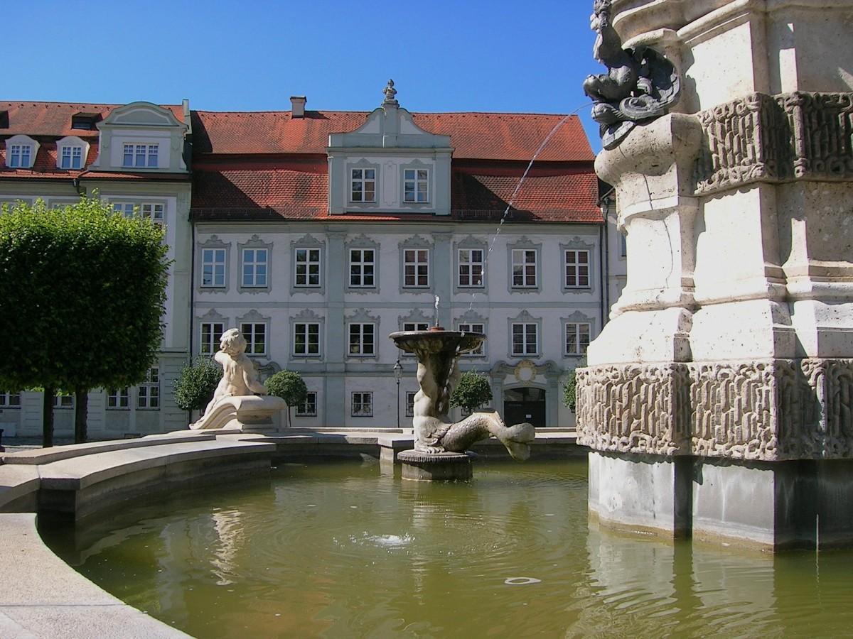 Images gratuites eau ch teau palais r flexion jardin for Piscine chateau d eau reims