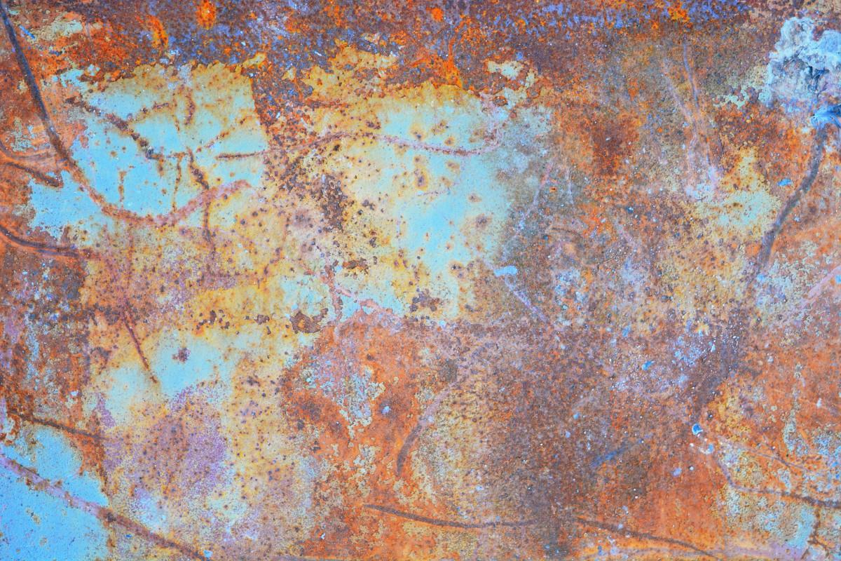 Images gratuites cru texture rouille m tal peindre - Peindre du metal rouille ...