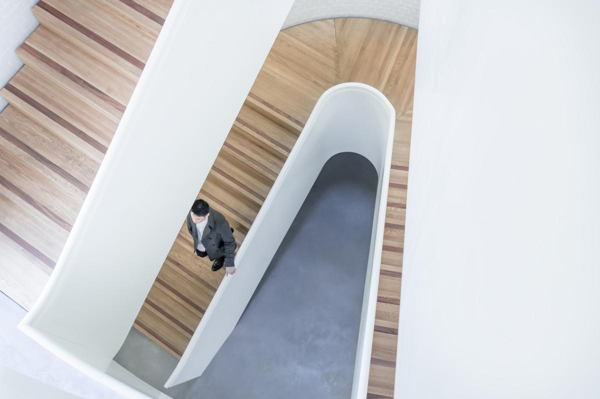 Man Architecture Wood Stair Floor Interior Walk Shelf Furniture Interior  Design Product Design Stairs