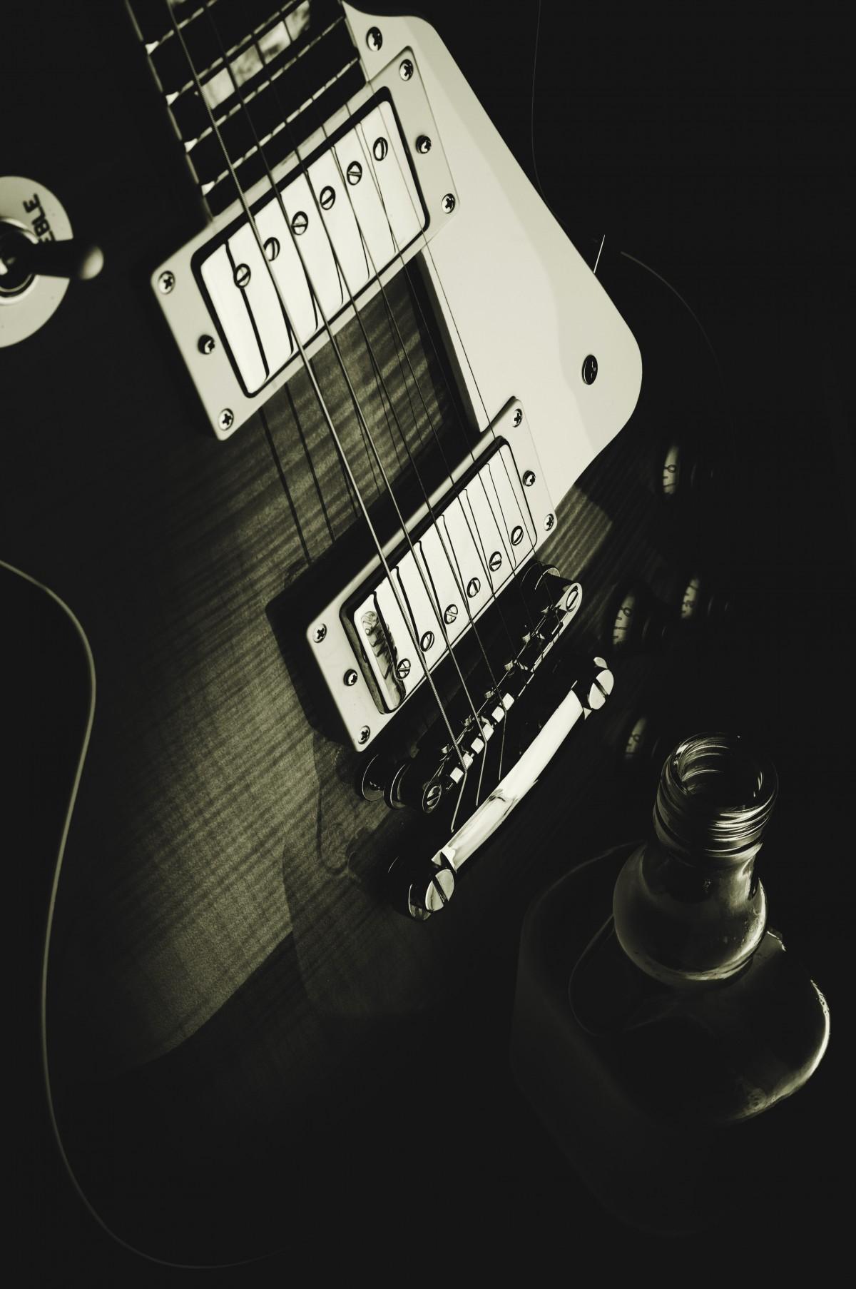 Préférence Images Gratuites : Roche, la musique, noir et blanc, guitare  NQ81