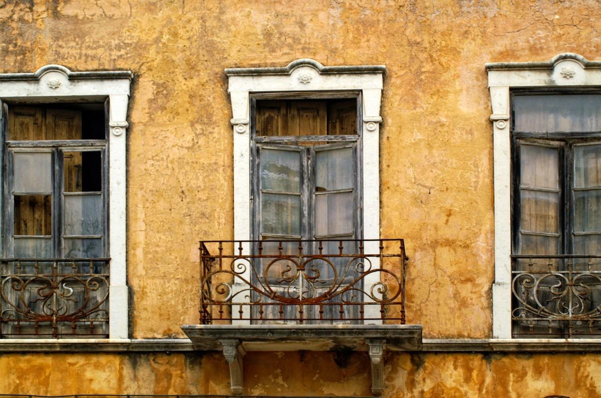 Kostenlose foto die architektur fenster geb ude - Hauswand farbig gestalten ...