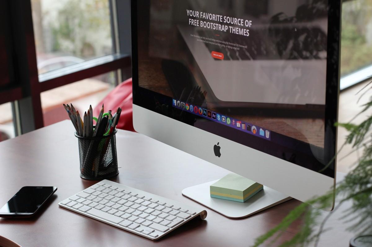 Free Images Desk Screen Apple Keyboard Technology
