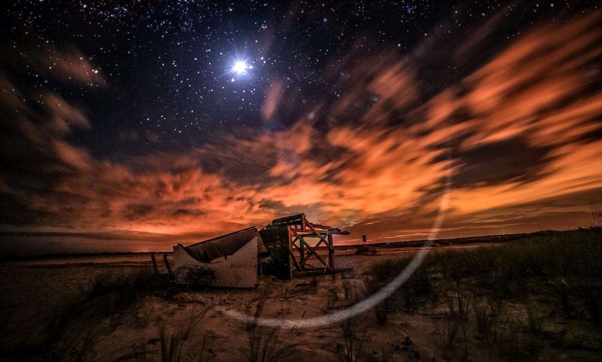 星が輝く宇宙の画像