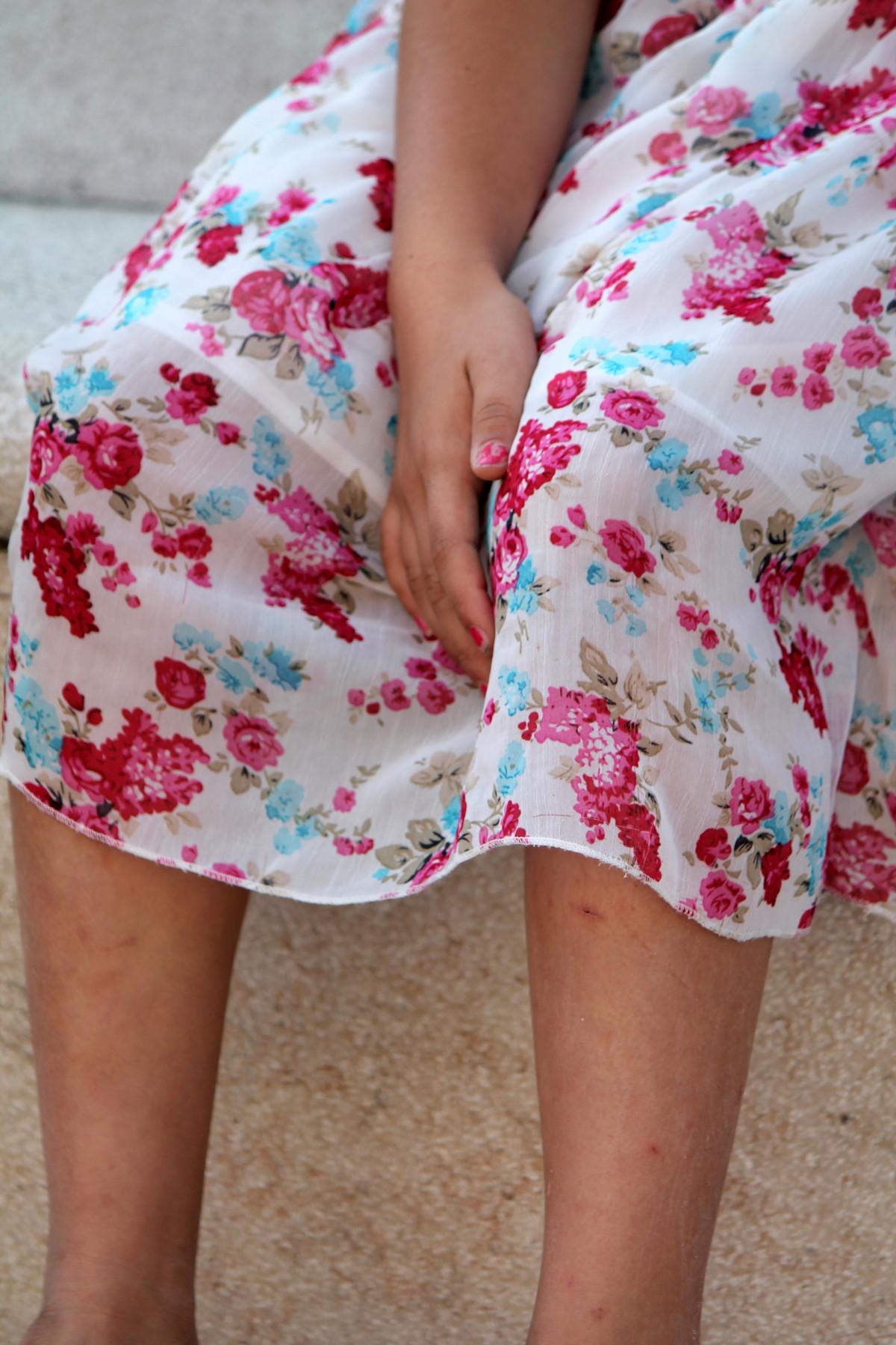 tangan kaki pola musim semi mode pakaian