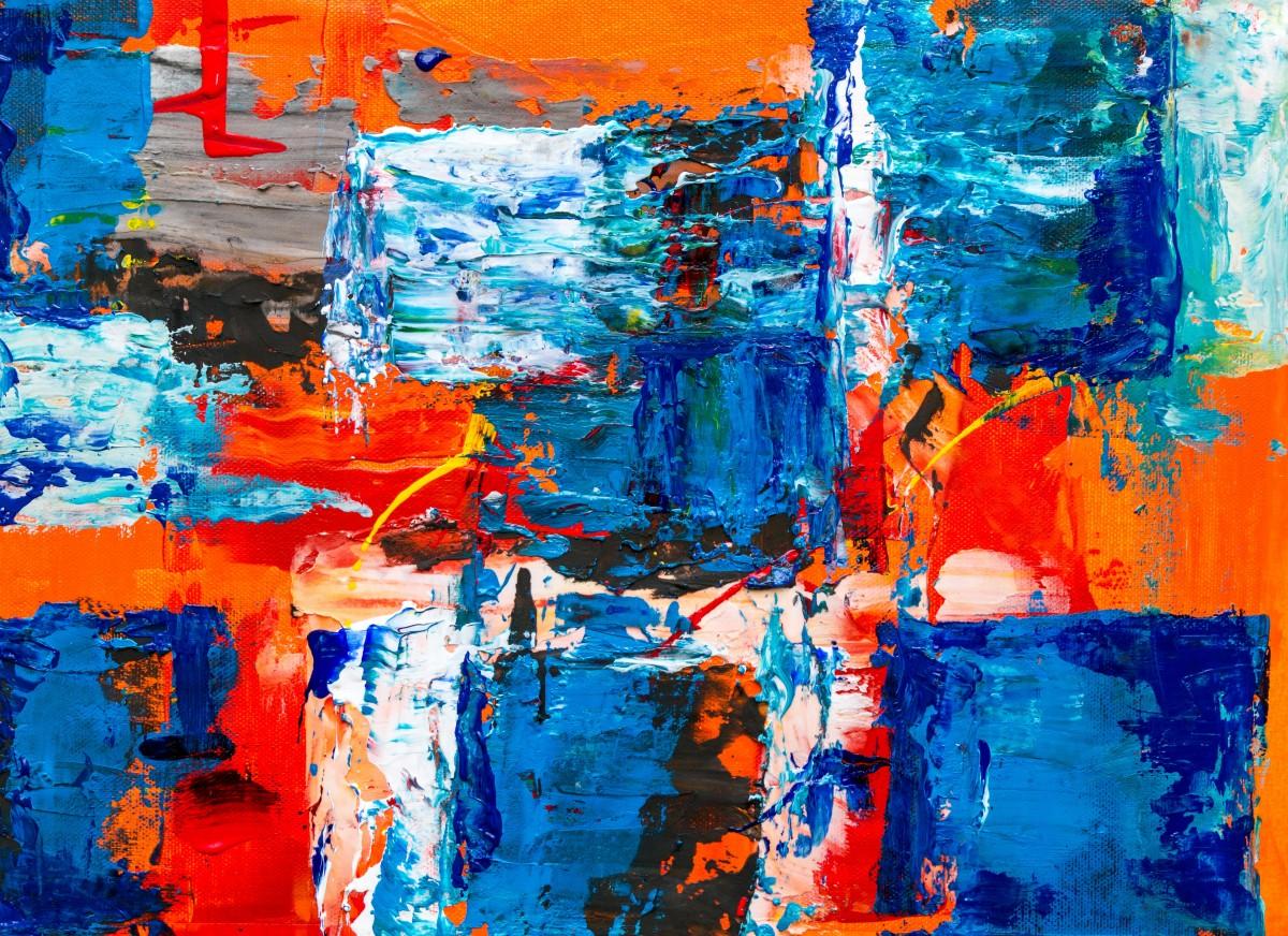 青 アート ペインティング 現代美術 アクリル塗料 ペイント アートワーク 水 視覚芸術 コラージュ