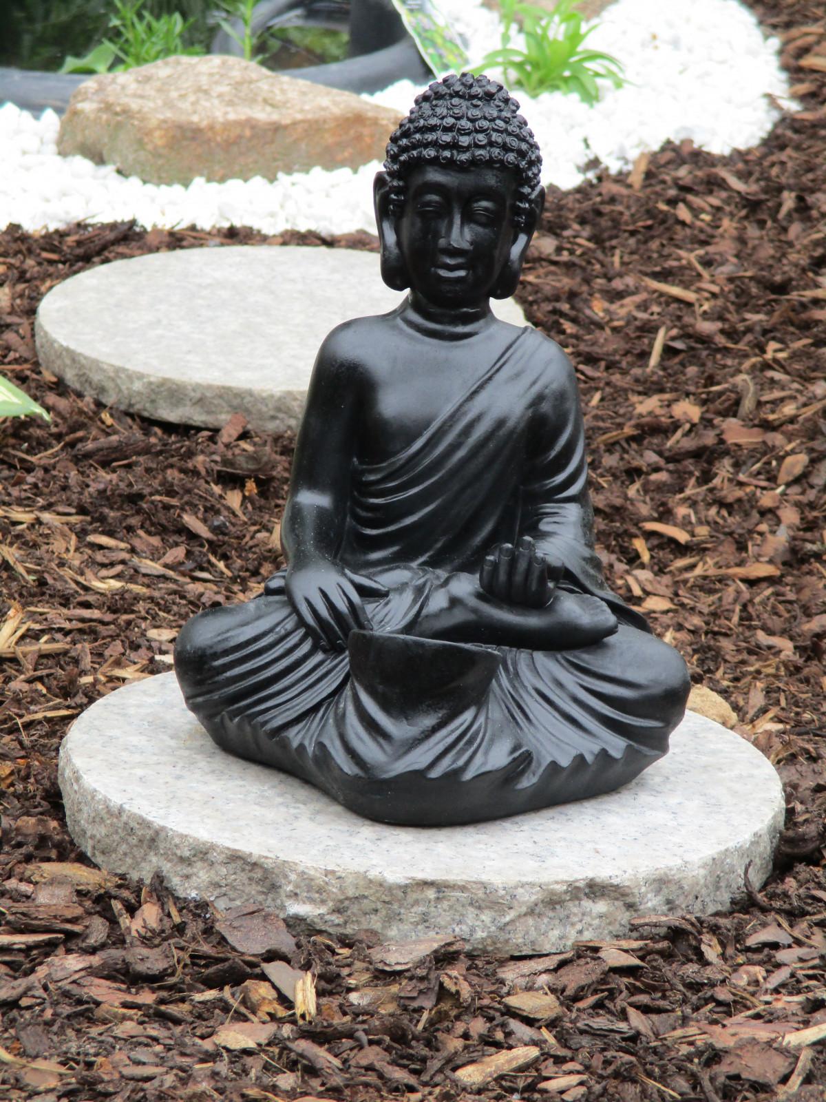 piedra monumento estatua budista asia negro