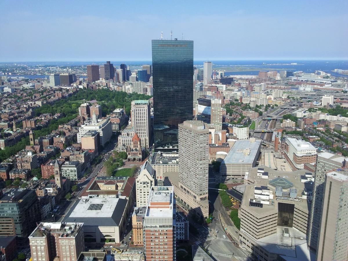 スカイライン タウン シティ 超高層ビル 都市 都市景観 ダウンタウン タワー アメリカ合衆国 アメリカ ランドマーク 高層ビル 街の景色 ボストン 建物 大都市 ご近所 鳥瞰図 航空写真 市街地 住宅街 地理的特徴 人間の決済 首都圏