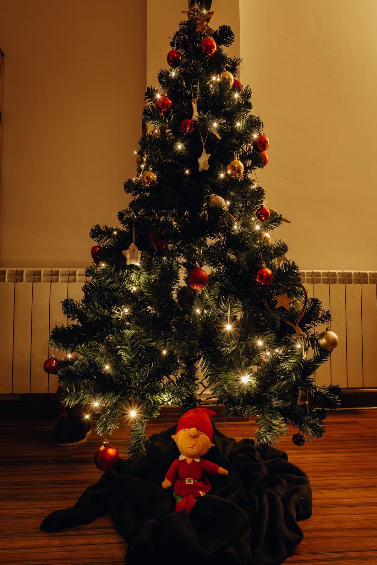 celebration christmas christmas balls christmas decoration christmas lights christmas tree conifer decoration hanging lights public domain images
