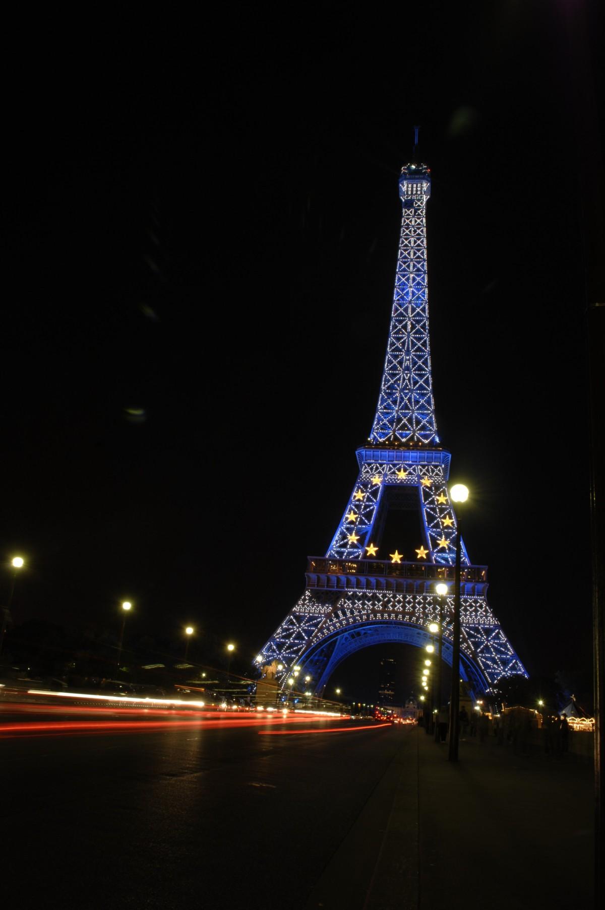 Images gratuites lumi re architecture horizon nuit - Tour eiffel photos gratuites ...