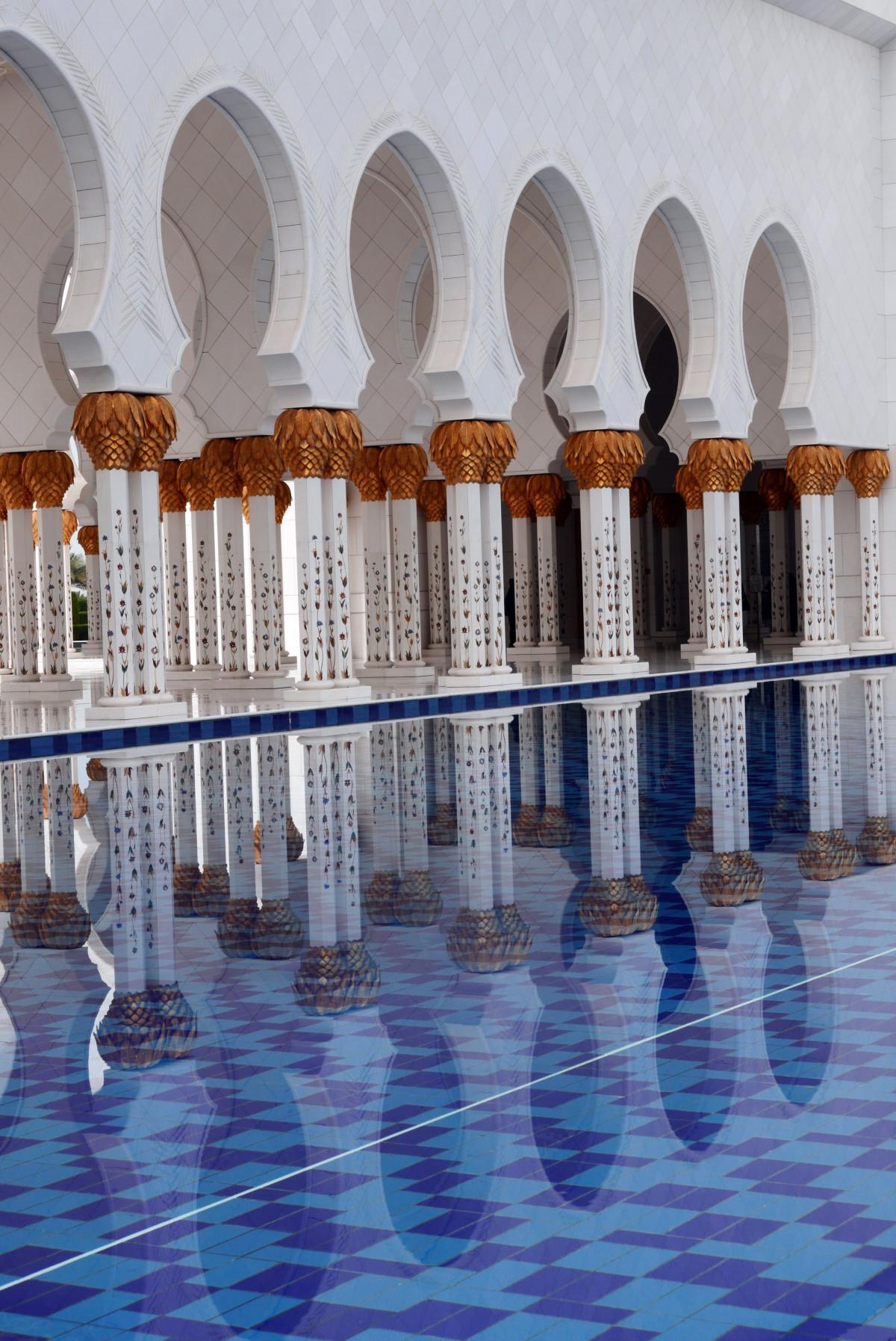 Gambar Bangunan Tempat Beribadah Mesjid Abu Dhabi Masjid Sheikh Zayed Arsitektur Islamic