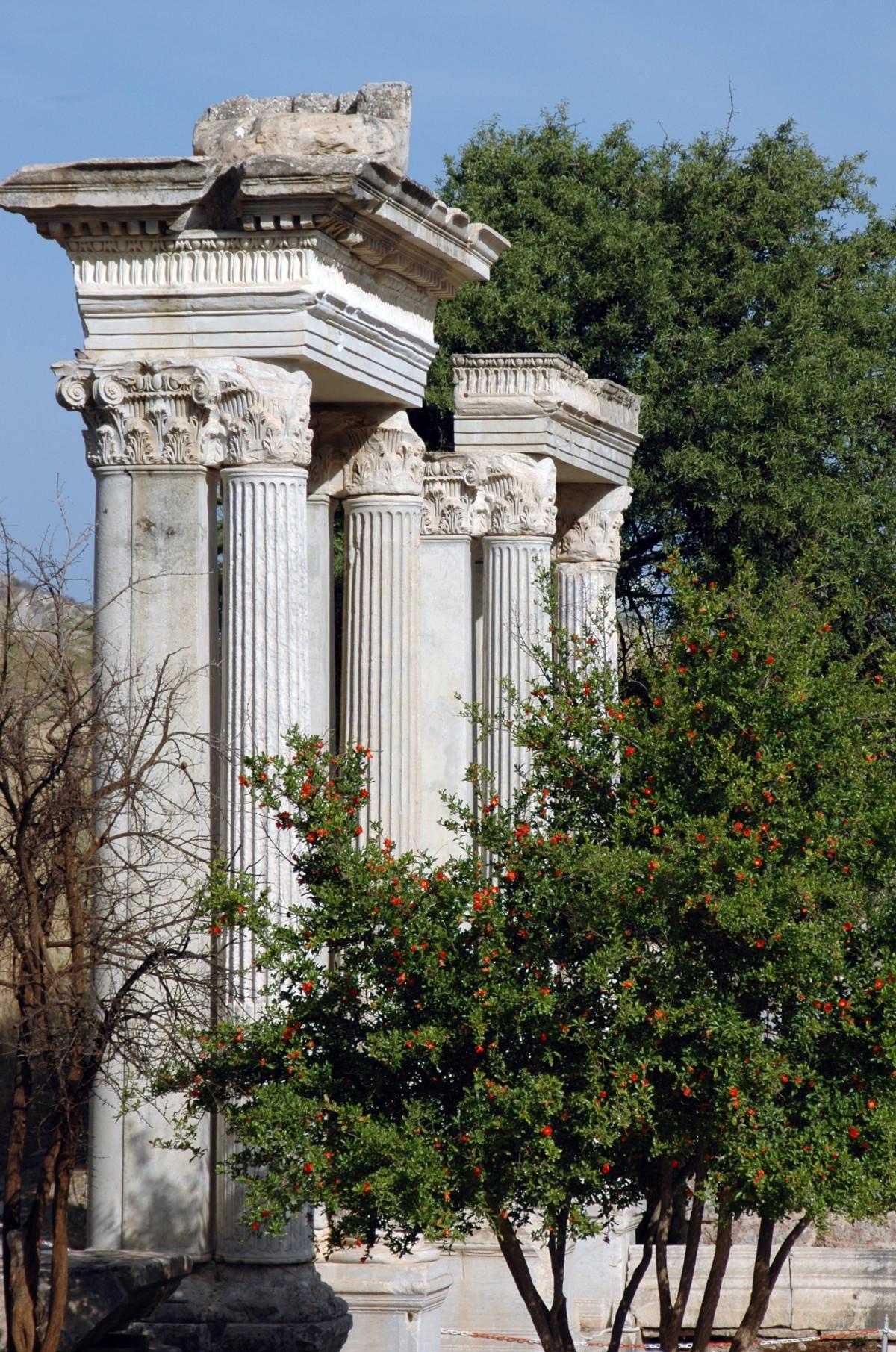 Fotos gratis estructura monumento columna escultura Casas griegas antiguas