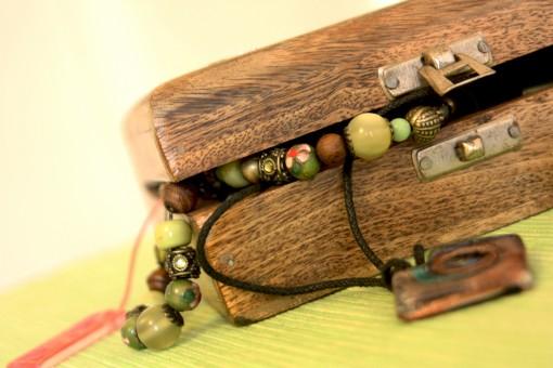 jewellery box necklace bracelet ring wooden women lady