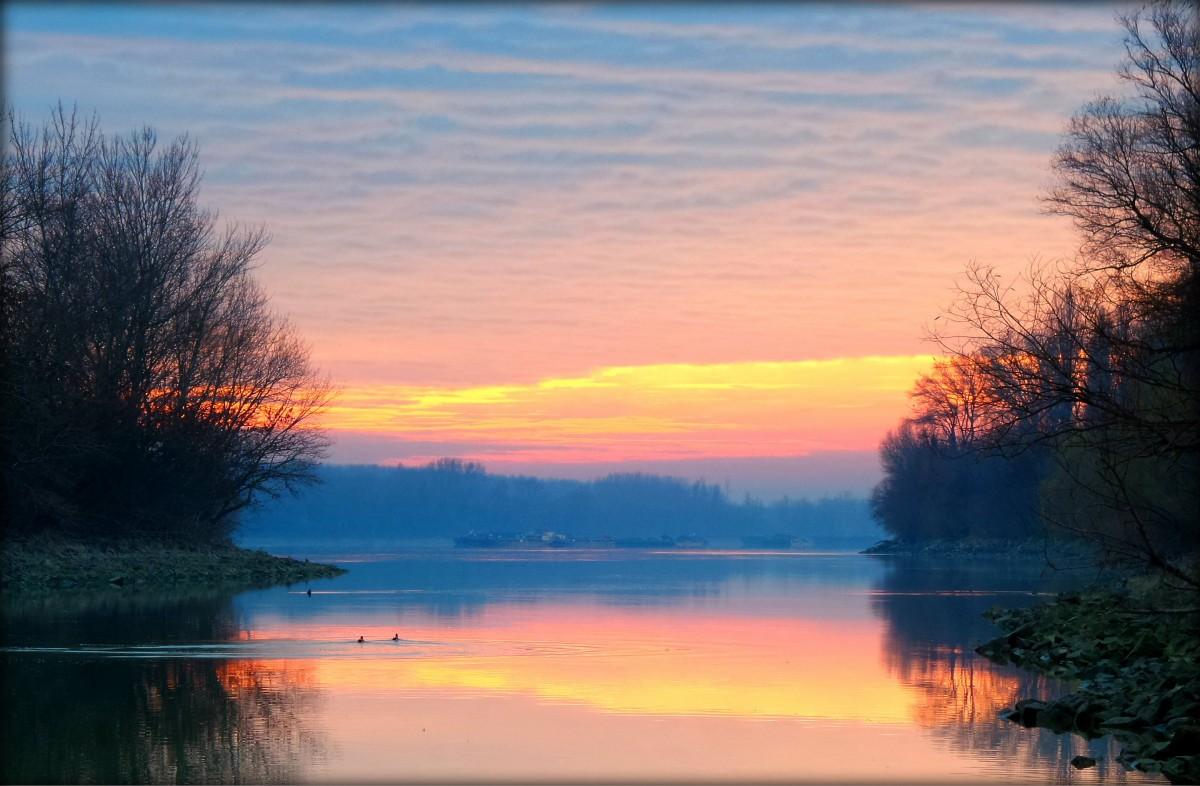 последние закат на озере туман изменения будущей