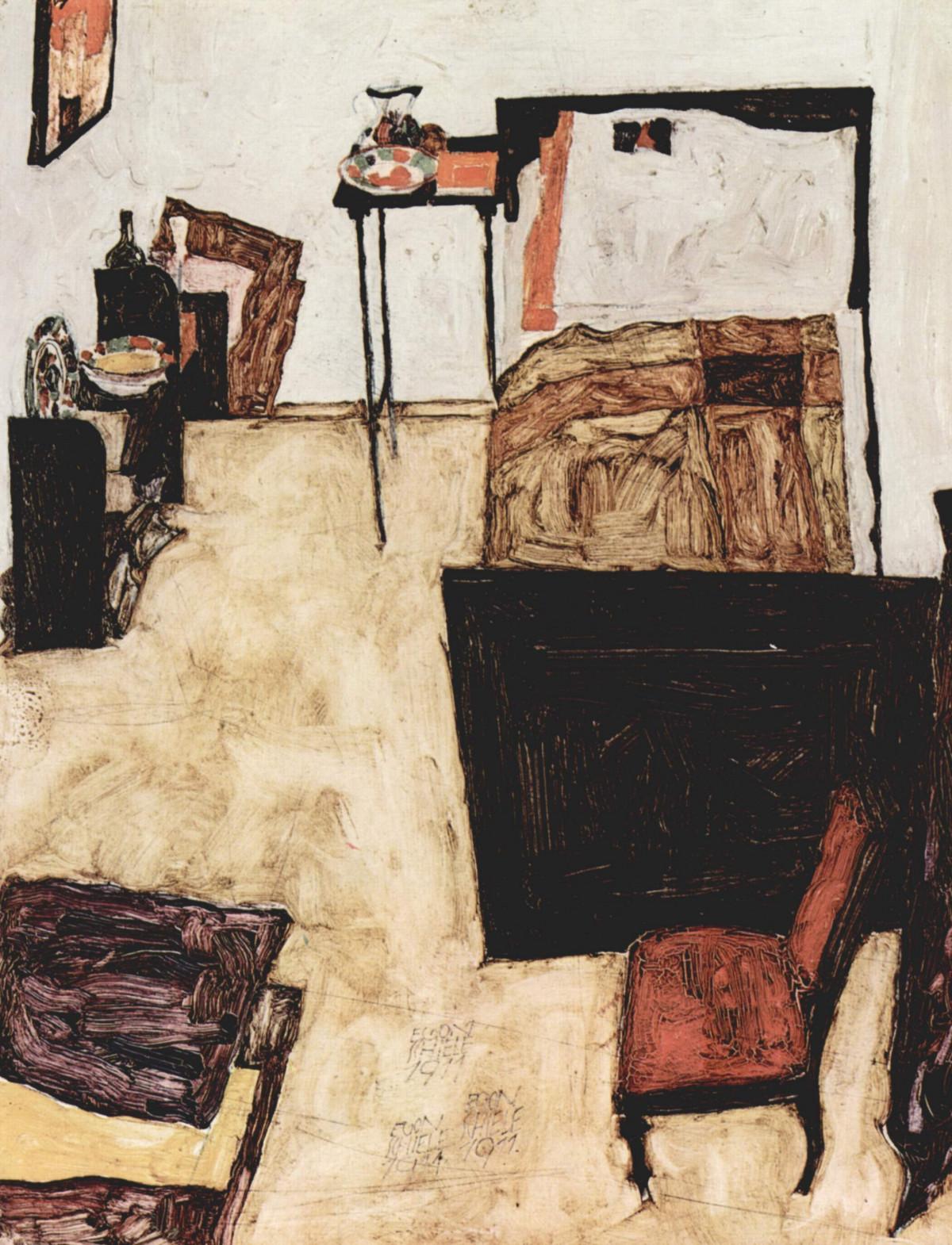Lieblich Holz Schlafzimmer Stillleben Kunstwerk Malerei Österreich Kunst  Publicdomain Expressionismus Skizzieren Zeichnung Egonschiele Illustration  Jugendstil ...