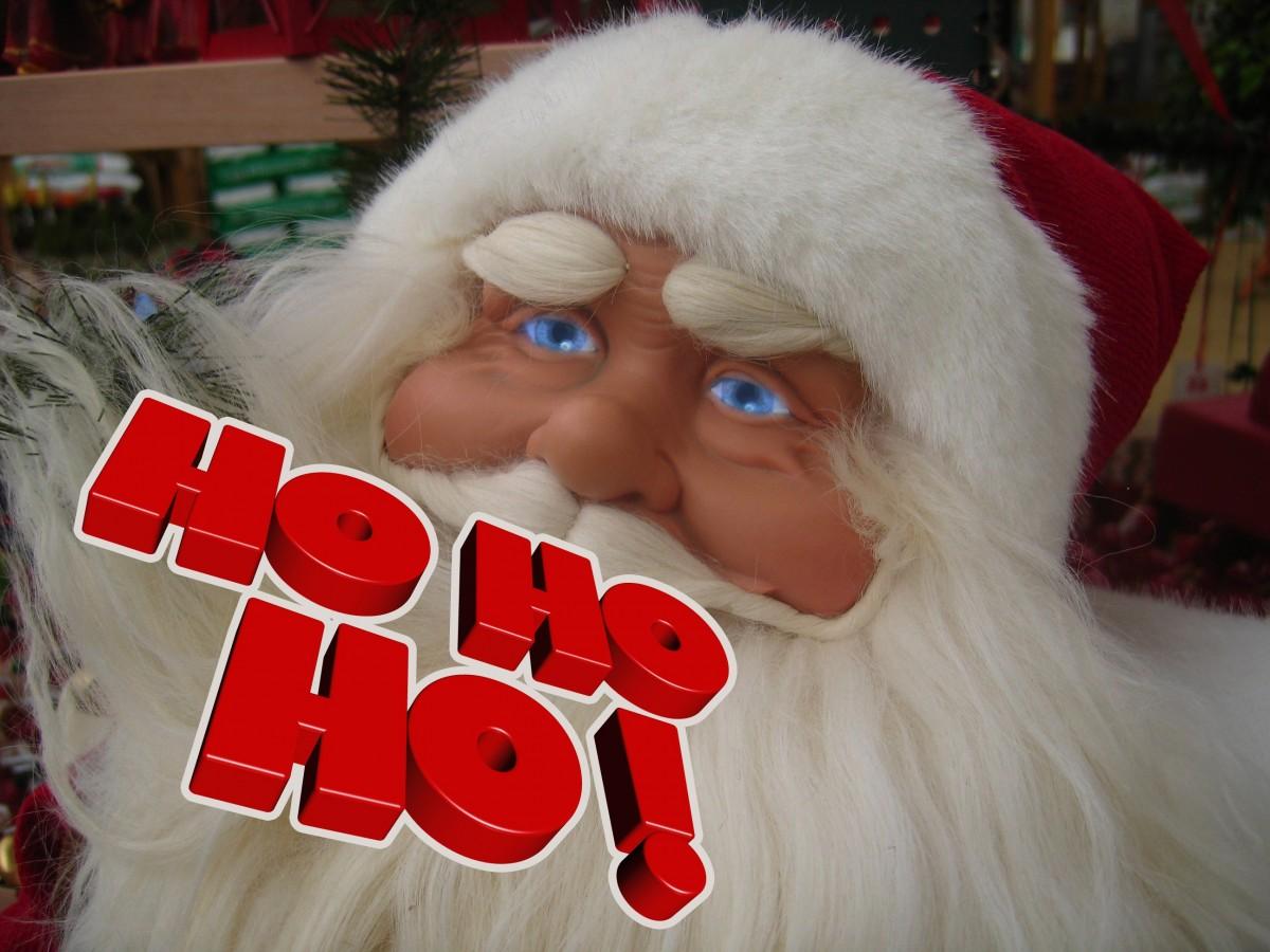 Babbo Natale Ho Ho Ho.Immagini Belle Bianca Pelliccia Decorazione Rosso Cristiano