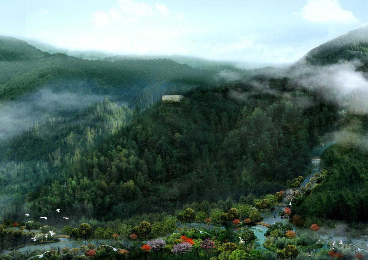 Free images architecture flower building pond jungle for Rendering 3d online gratis
