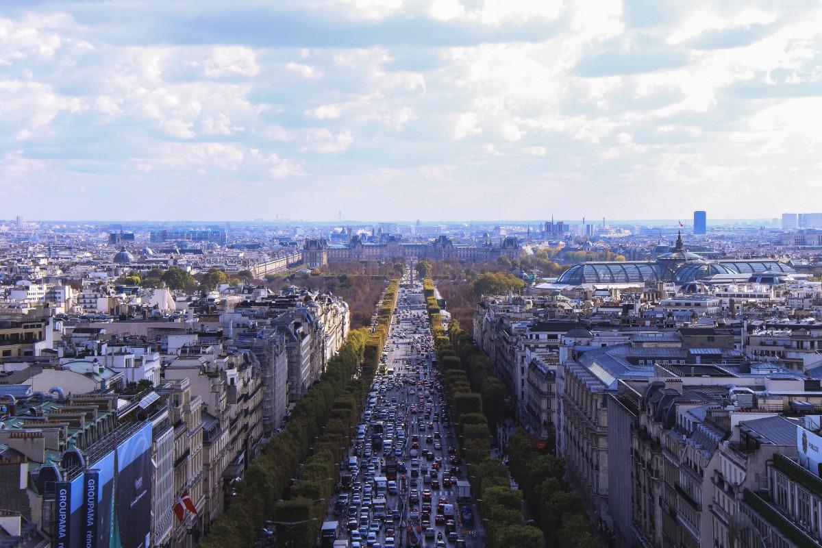 самая большая улица парижа фото металлической