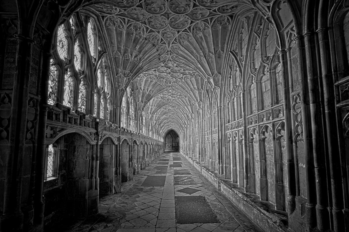 Images gratuites noir et blanc b timent ruelle cambre for Architecture gothique
