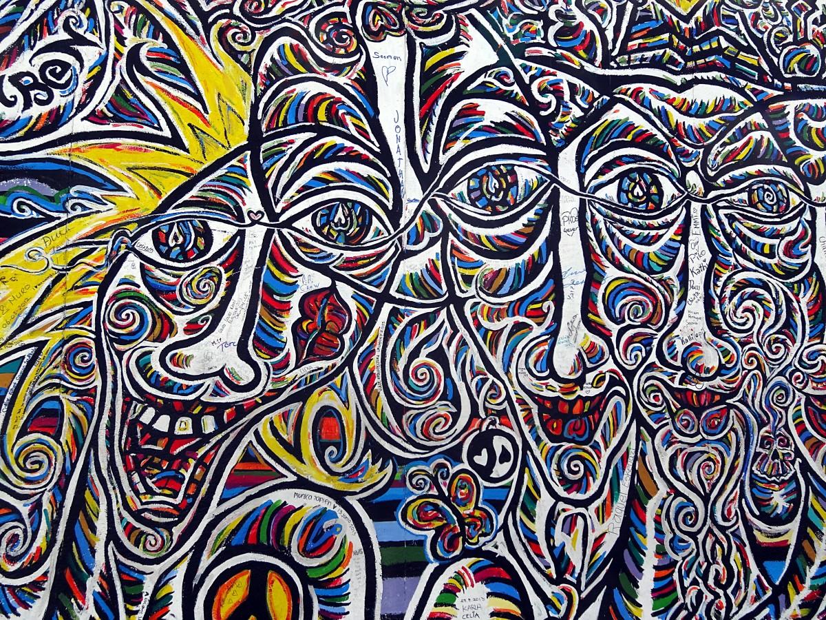 Grafiti wall berlin - Wall Pattern Line Color Artistic Graffiti