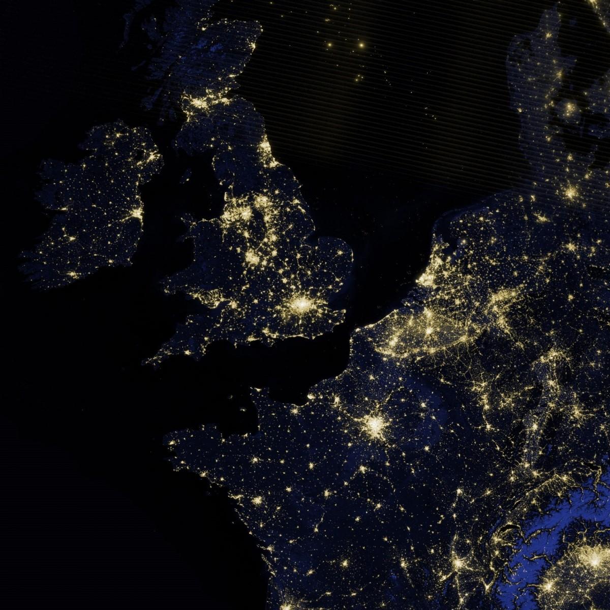 nasa night lights - HD1200×1200