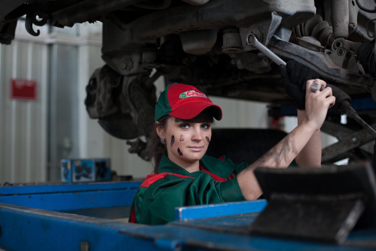 fille, voiture, véhicule, produit, amusement, séance photo, mécanicien, mécanicien automobile, service de voiture