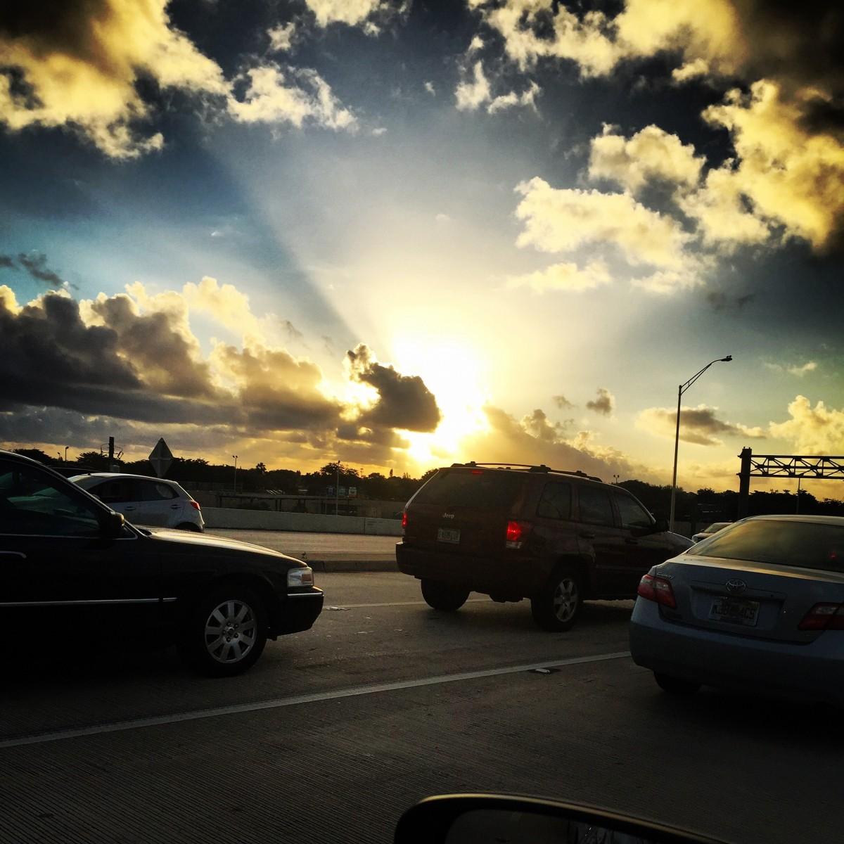 Free Images : Light, Cloud, Sky, Sunset, Car, Sunlight