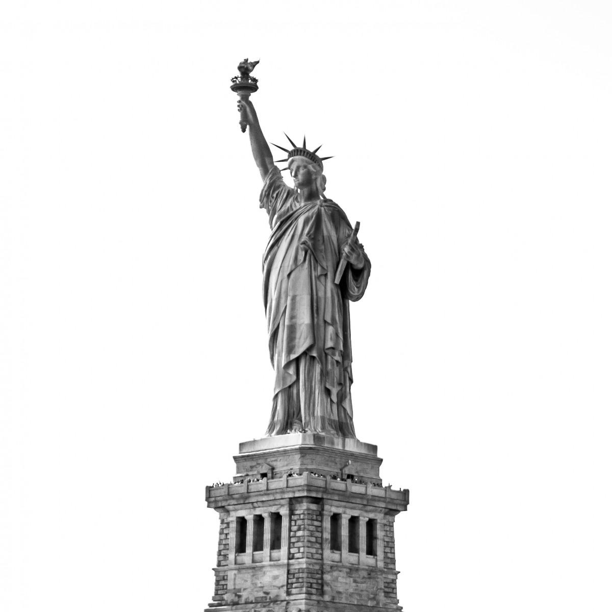 images gratuites noir et blanc architecture new york monument touristique voyage statue. Black Bedroom Furniture Sets. Home Design Ideas