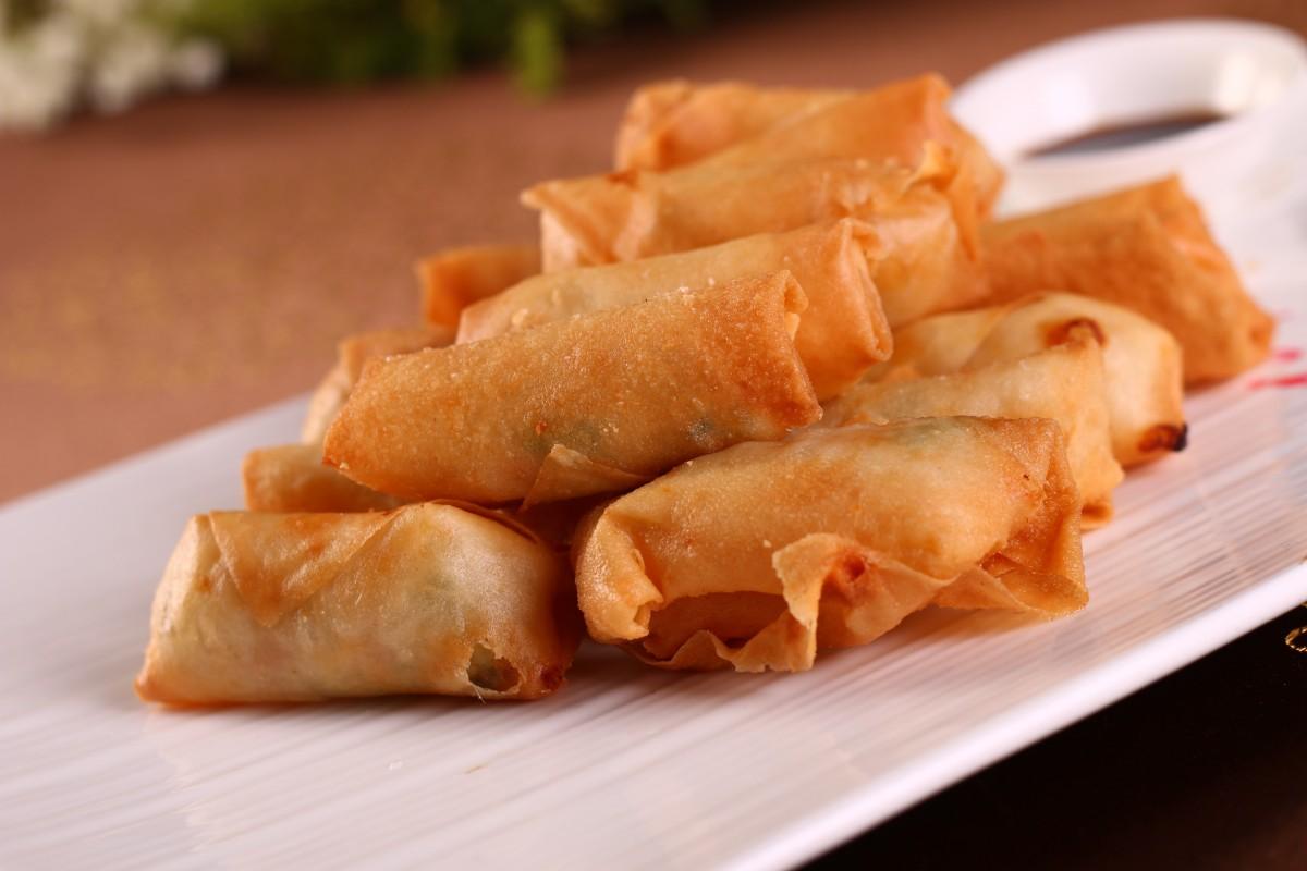 碟 餐饮 美食 甜点 美食 亚洲食品 中国菜 点心 传统美食 蛋卷 油炸食品 春卷 卢比亚 taquito 内姆河 弹簧卷 iao子 馄饨