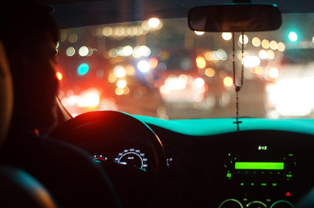 Картинки с машины на дорогу ночью