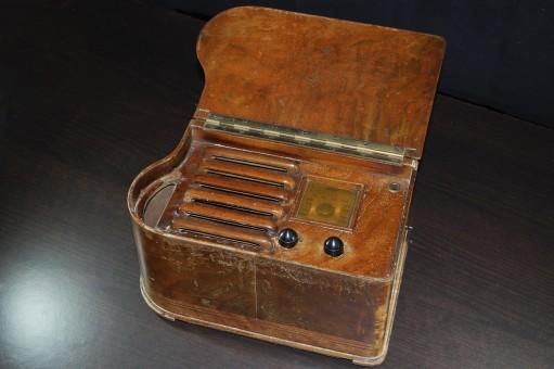 radio old old radio transistor valves within vintage receptor emerson