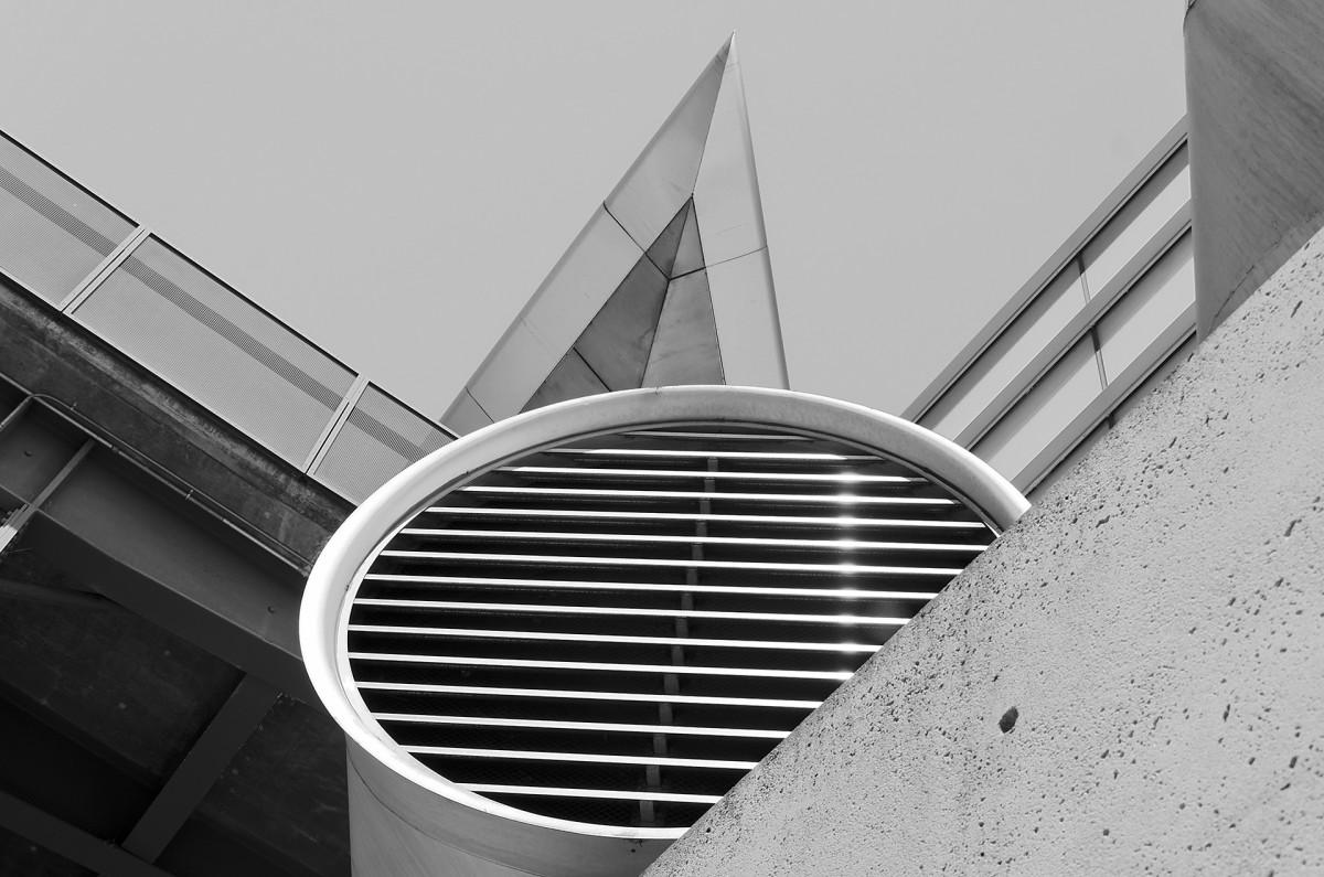 Gambar Kerja Arsitektur Struktur Putih Bangunan Rumah