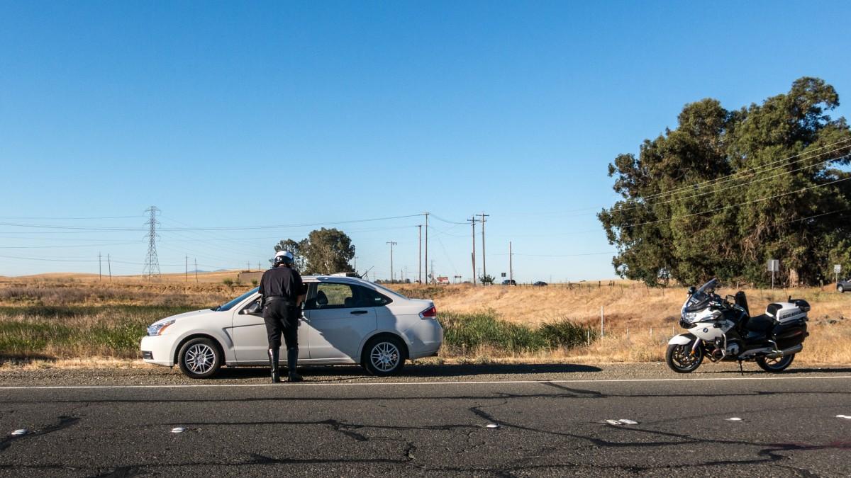 Cop Stopping Motorist